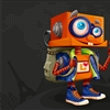 Lobot 3D with Black Background